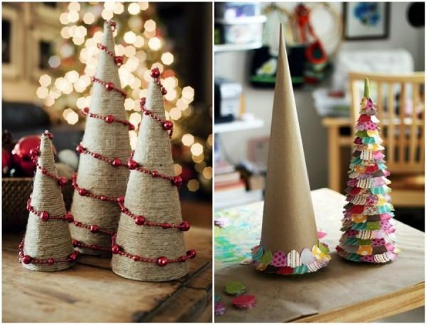 Как сделать из бумаги легкую поделку на новый год