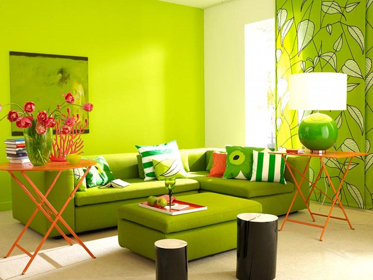Салатовый цвет фото в интерьере